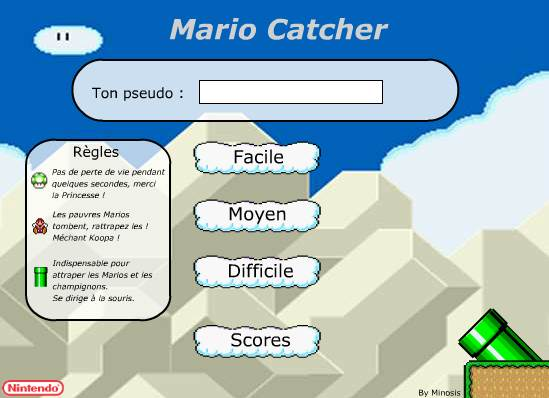 Joue à Super Mario Catcher