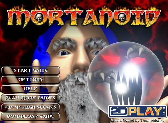 Le jeu de Pong version Halloween Mortanoid