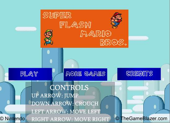 Jeu de Super Mario Flash