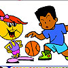coloriage basket ball